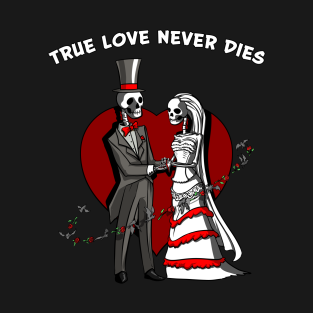 Skeletons Wedding Cute Halloween Anniversary t-shirts