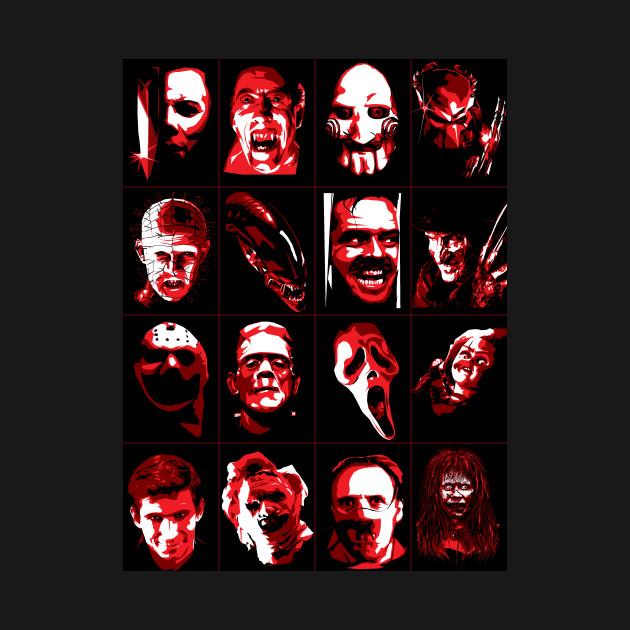 Halloween Horror Icons - Halloween - T-Shirt