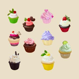 Cupcake Pattern t-shirts