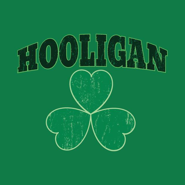 Green Shamrock Irish Hooligan Clover St Patricks Day Shirt