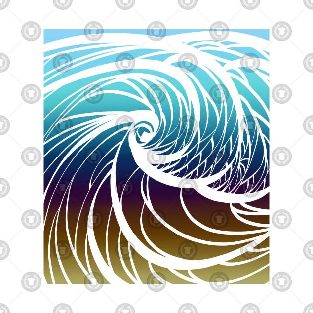 Sunset Waves Wave Design Phone Case TeePublic
