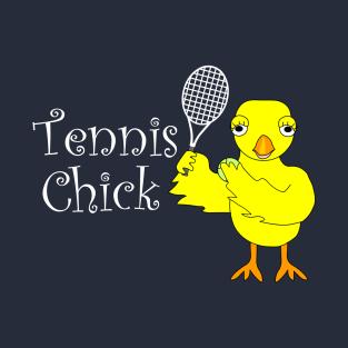 Tennis Chick Text t-shirts