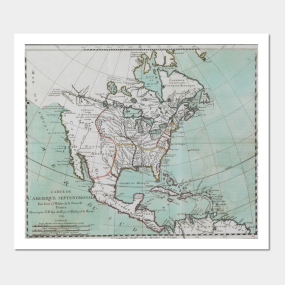 North America Map Posters and Art Prints | TeePublic
