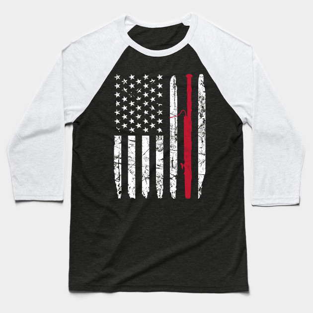 Bassoon American Flag Baseball T-Shirt