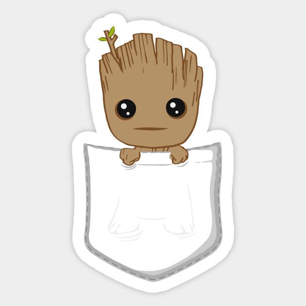 435bd94959 Pocket Groot - Baby Groot - Sticker