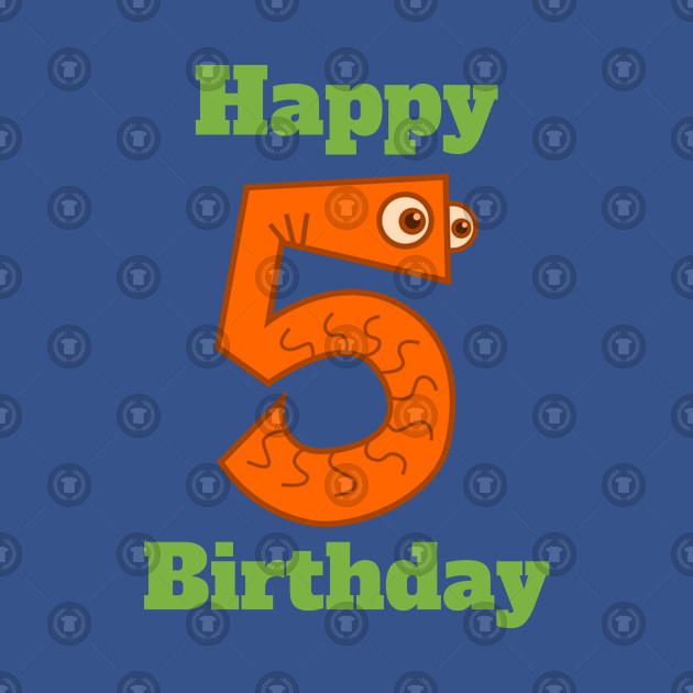Happy 5th Birthday Fifth For Boys Or Girls
