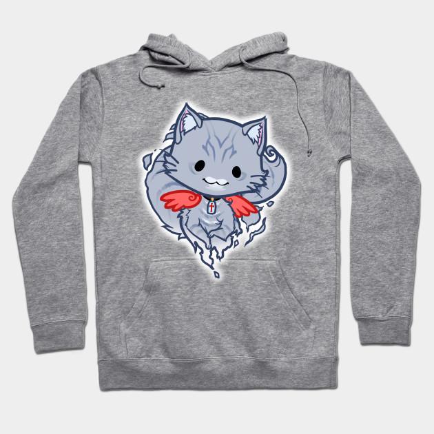 3afd3da4eea Halloween Chibi Winged Kitty - Grey Tabby Ghost Cat - Halloween ...