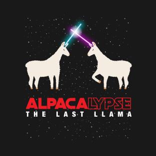 0827822c1e Alpacalypse Alpaca Apocolypspe Funny Star Space Wars Last Llama Parody T- Shirt