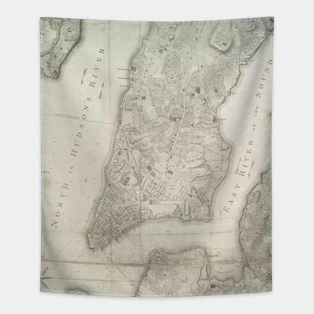 Map Of New York 1776.Vintage Map Of New York City 1776