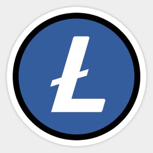 5x Litecoin Stickers decals POS till shop p.o.s shopfront store CRYPTO sign ETH