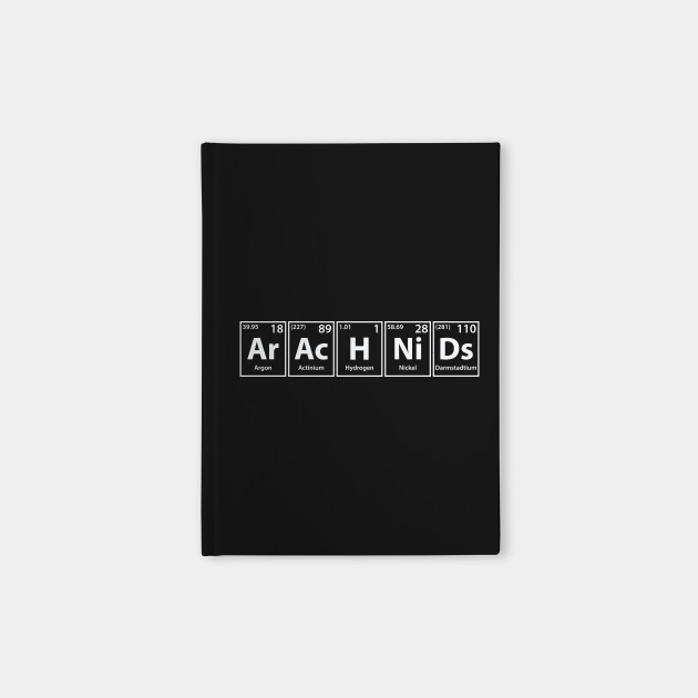 Arachnids (Ar-Ac-H-Ni-Ds) Periodic Elements Spelling