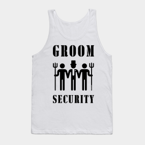5b7b5ff8f Groom Security (Bachelor Party / Stag Night / Black) Tank Top