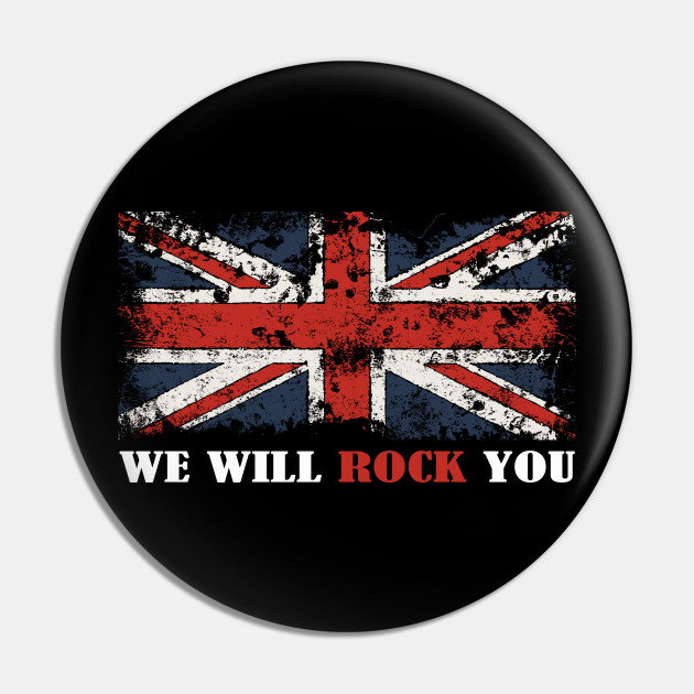 Vintage Rock And Roll Legendary rock star British Flag