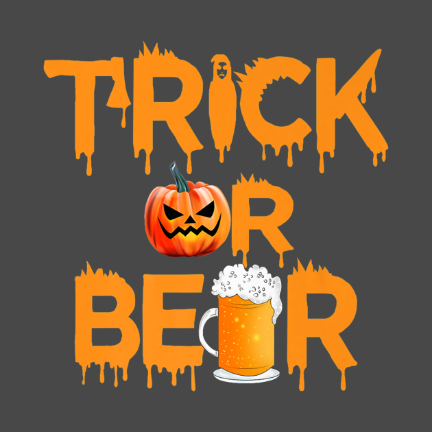 Trick pumpkin beer costume scary