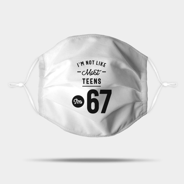 67 Year Old Gift 67th Birthday Gift Ideas Mens And Womens 67th Birthday Mask Teepublic