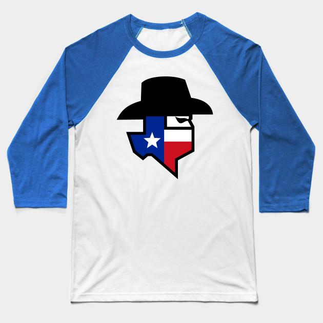 9e33499fac5 Bandit Texas Flag Icon - Bandit Texas Flag Icon - Baseball T-Shirt ...