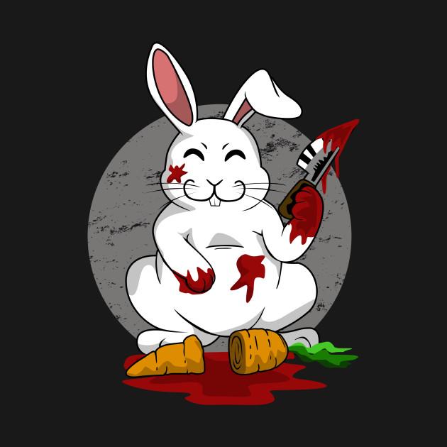 Killer Bunny Rabbit Blood Bunny Rabbit Hoodie Teepublic