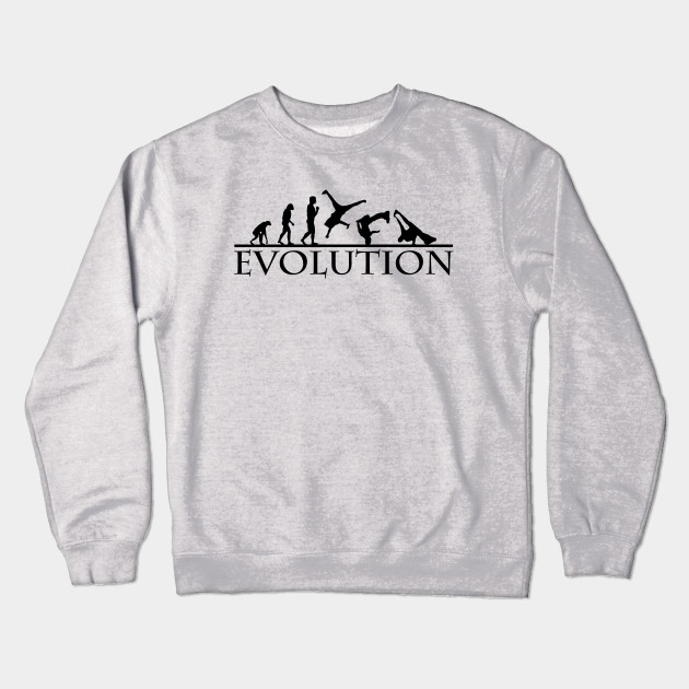 Bboying Evolution Black Photomanipulation Crewneck Sweatshirt