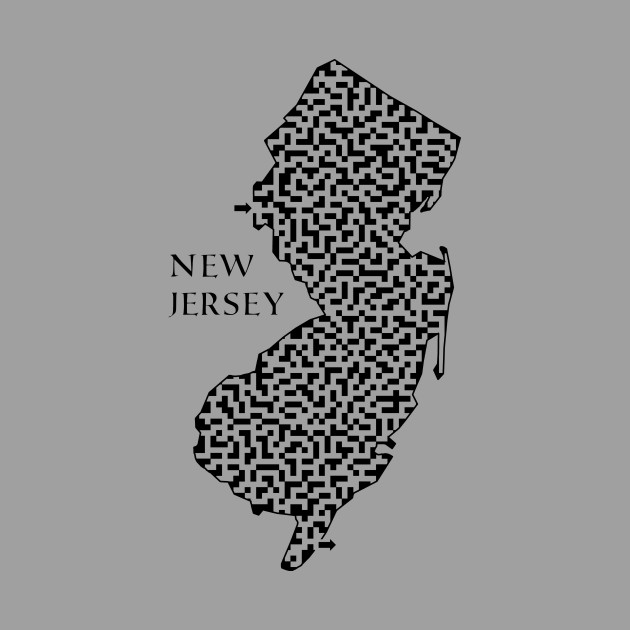 New Jersey State Outline Maze & Labyrinth
