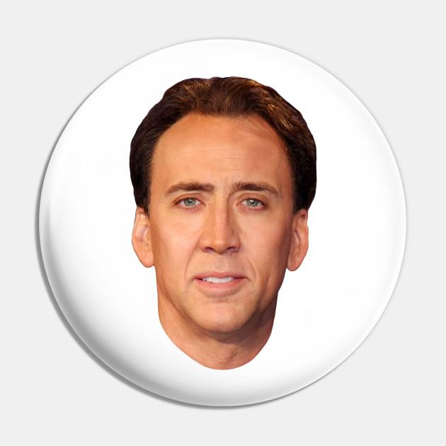 Nicolas Cage Nic Meme Pin 1.25