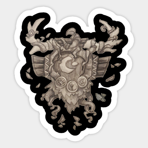 Druid Crest World Of Warcraft Sticker Teepublic