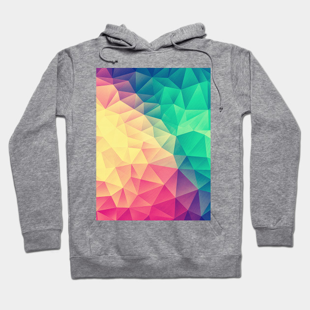 0c21b891 Color bomb! Abstract Polygon Multi Color Cubism Low Poly Triangle Design  Hoodie