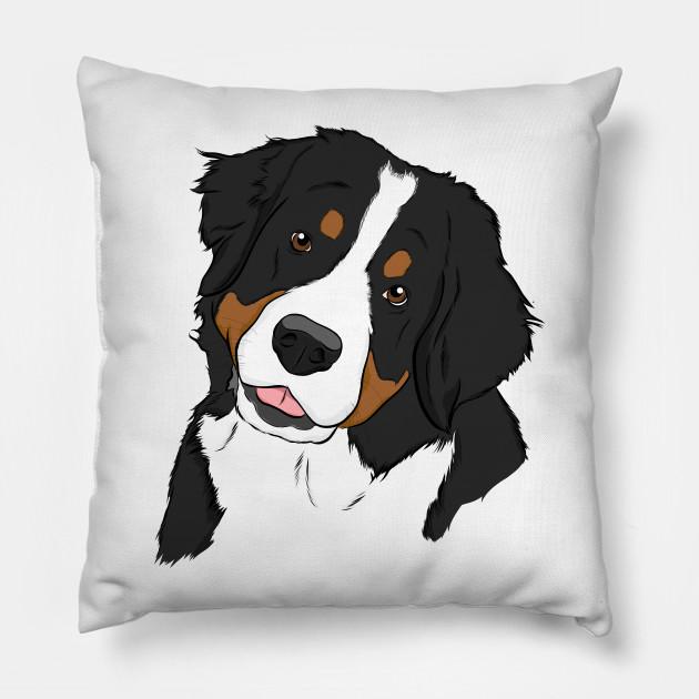 Bernese Mountain Dog Bernese Mountain Dog Pillow Teepublic