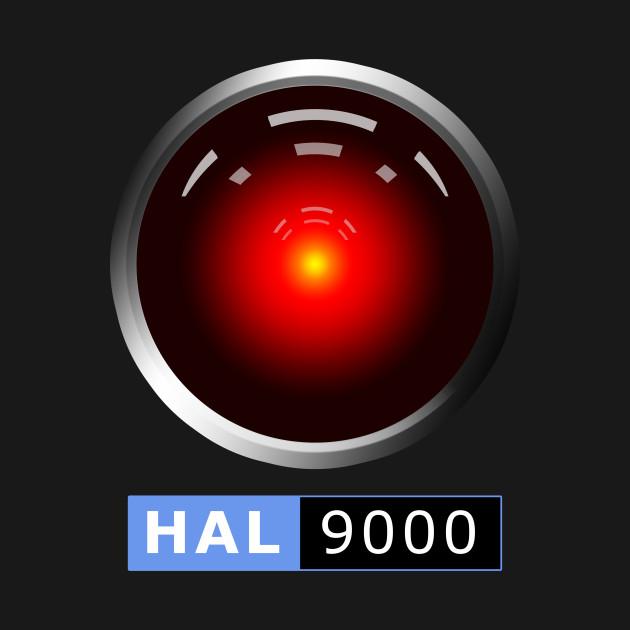 hal 9000 2001 space odyssey t shirt teepublic