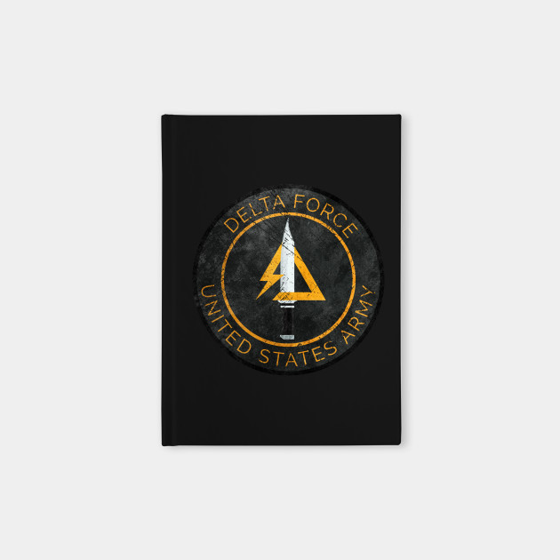 Delta Force Vintage Insignia Delta Force Notebook Teepublic