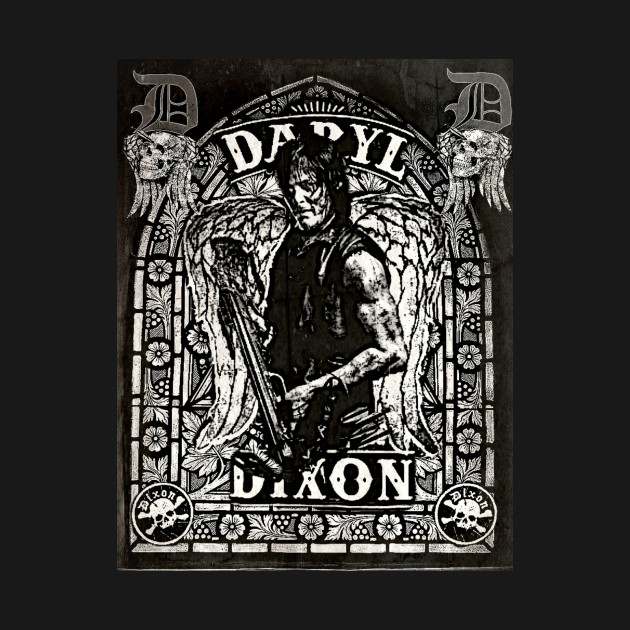 DARYL DIXON-Stained Glass