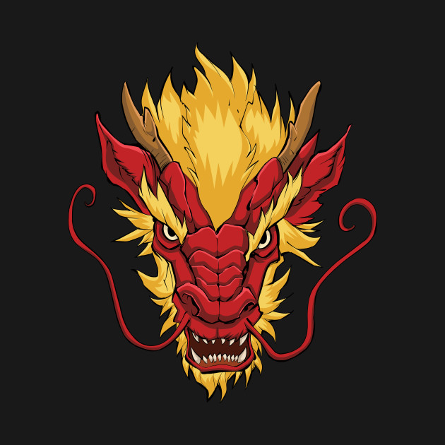 baecb00e2 Chinese Dragon Head Red - Dragon - Tank Top | TeePublic