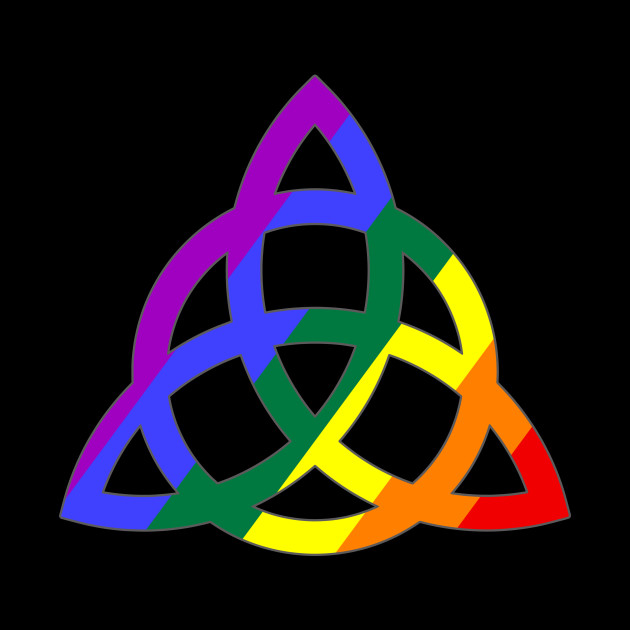 Rainbow Pentacle Wiccan Witch Symbol - Wiccan Wiccan Symbols