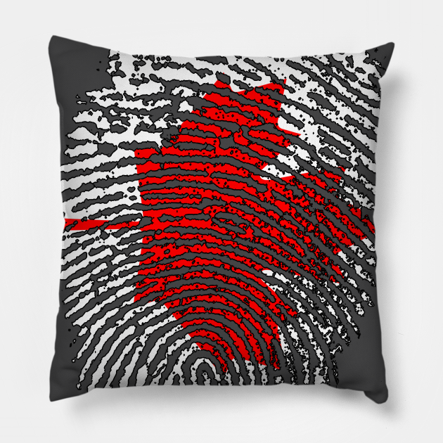 Canada Flag - Canadian Flag - CA Flag Fingerprint