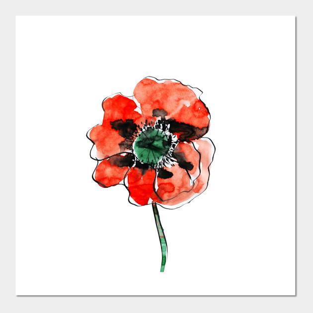 Poppy Flower Poppy Posters And Art Prints Teepublic