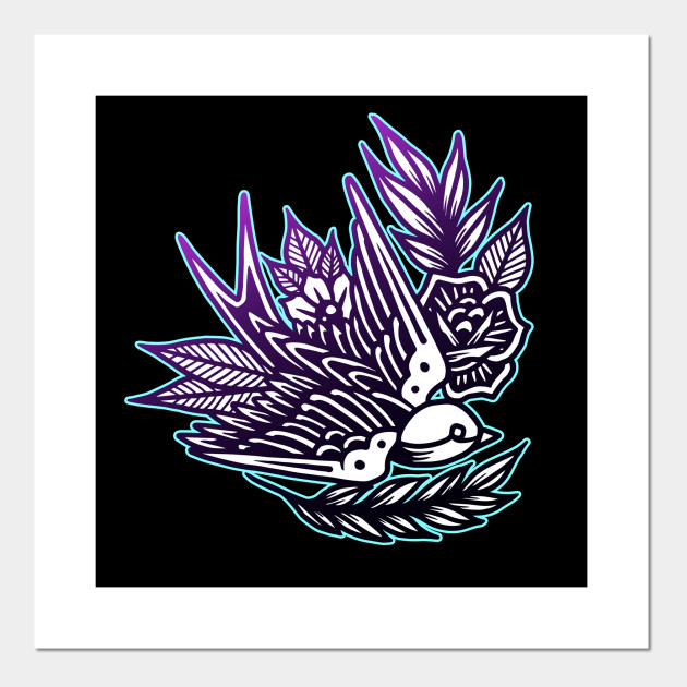149ab338f9085 Swallow Bird Vintage Tattoo Flash American Traditional - Vintage ...
