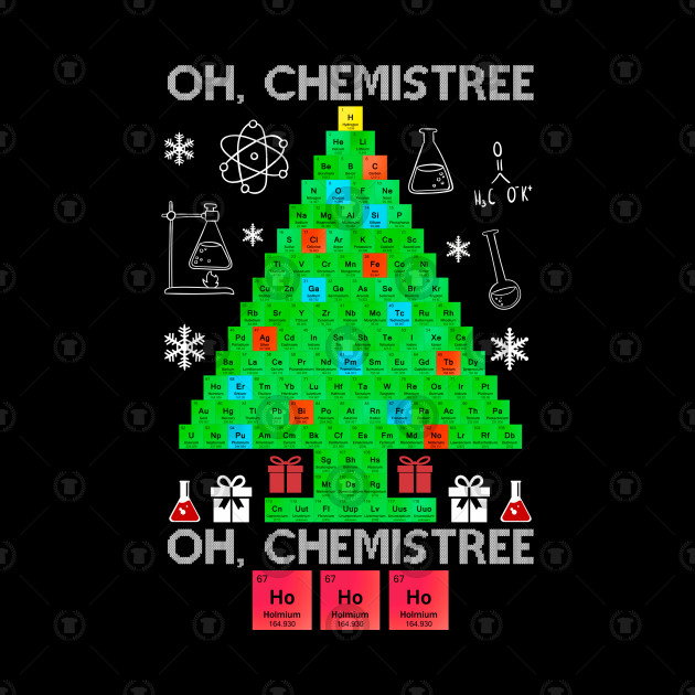 Ugly Christmas Tree.Oh Chemistree Funny Science Chemistry Ugly Christmas Tree