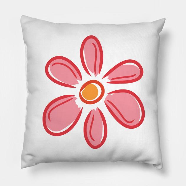 Pink Flower Pink Flower Pillow Teepublic