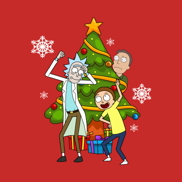Rick And Morty Christmas.Rick And Morty Celebrate Christmas
