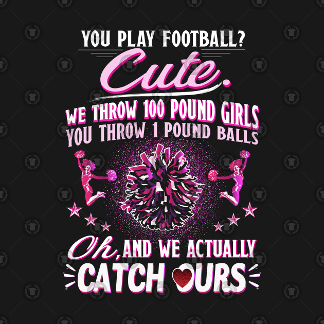 Funny Cheerleading T-Shirt Pretty Pink Quote Flyer Uniform