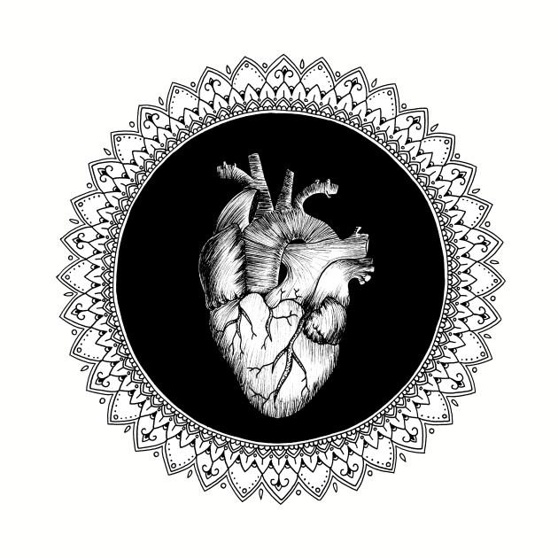Black Heart Mandala