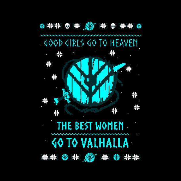 the best women go to valhalla - christmas sweater - Valhalla - Mug ...