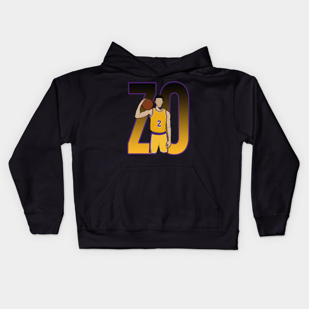 69f971b13f23 Lonzo Ball  ZO  - Los Angeles Lakers - Nba - Kids Hoodie
