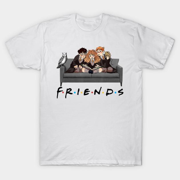 Best Friends Harry Magical Wizard Potter Sofa Halloween T-Shirt