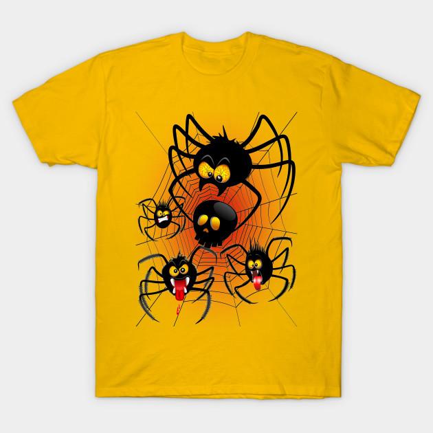 Halloween Spiders Cartoon - Halloween Spiders Cartoon - T-Shirt ...