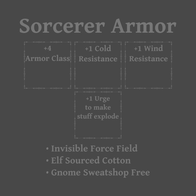 Sorcerer Armor: Role Playing DND 5e Pathfinder RPG Tabletop RNG by  rayrayray90