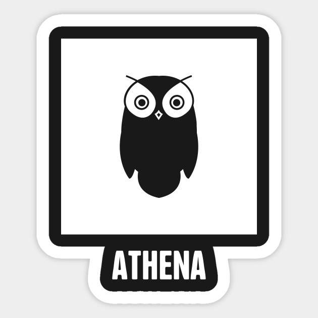 Athena Greek Mythology God Symbol Greek Mythology Sticker