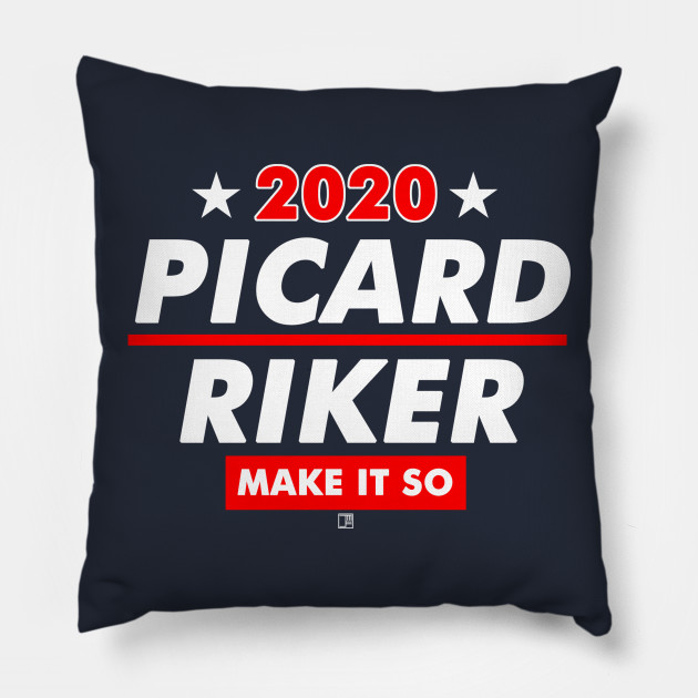 picard and riker 2020 presidential election picard pillow