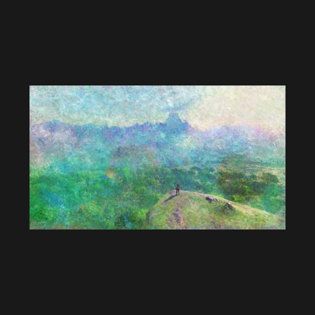 Legend of Zelda Breath of the Wild Intro Impressionist Painting