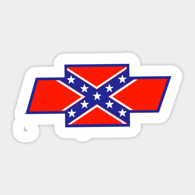 Rebel Flag Chevy Bowtie Country Sticker Teepublic
