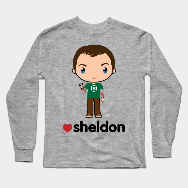 c0d481ca146f Love Sheldon - Big Bang Theory - Sheldon Cooper - Long Sleeve T ...
